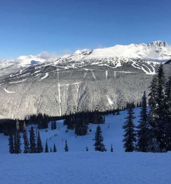 A white Christmas in Whistler Blackcomb, British Columbia, Canada